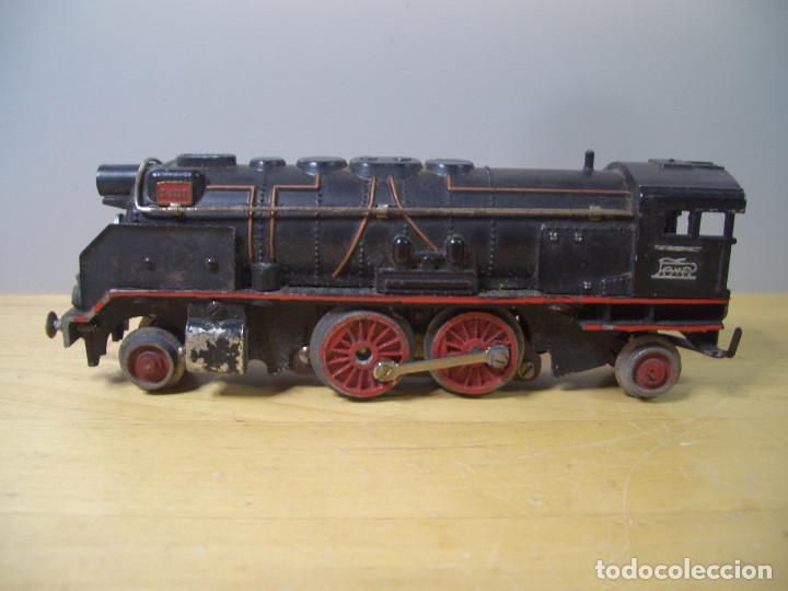Trenes Escala: ANTIGUO TREN PAYA CON CAJA REF 1402 LOCOMOTORA 1401 VAGON LOTE VAGONES ESCALA - Foto 4 - 277285978