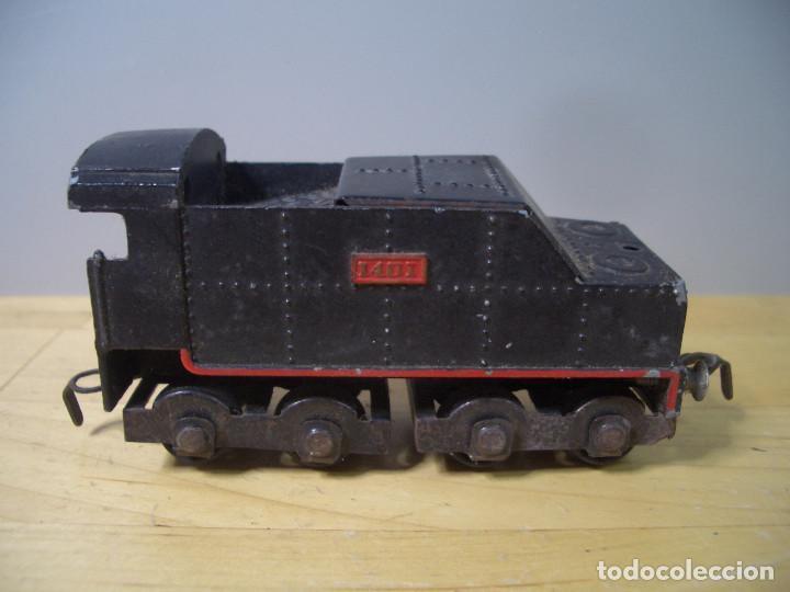 Trenes Escala: ANTIGUO TREN PAYA CON CAJA REF 1402 LOCOMOTORA 1401 VAGON LOTE VAGONES ESCALA - Foto 8 - 277285978