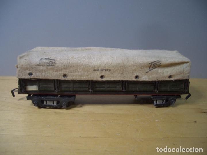 Trenes Escala: ANTIGUO TREN PAYA CON CAJA REF 1402 LOCOMOTORA 1401 VAGON LOTE VAGONES ESCALA - Foto 14 - 277285978