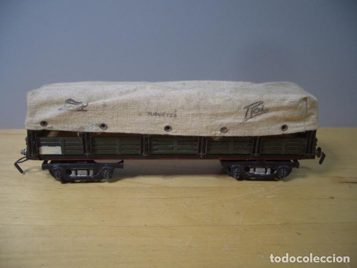 Trenes Escala: ANTIGUO TREN PAYA CON CAJA REF 1402 LOCOMOTORA 1401 VAGON LOTE VAGONES ESCALA - Foto 16 - 277285978