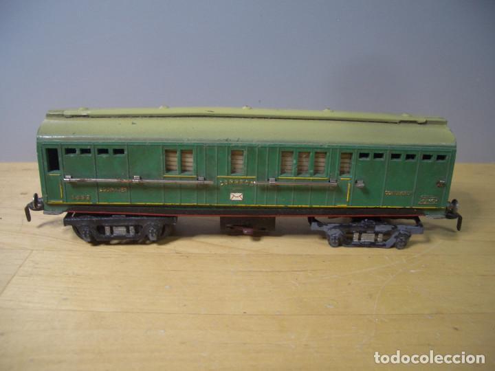 Trenes Escala: ANTIGUO TREN PAYA CON CAJA REF 1402 LOCOMOTORA 1401 VAGON LOTE VAGONES ESCALA - Foto 21 - 277285978
