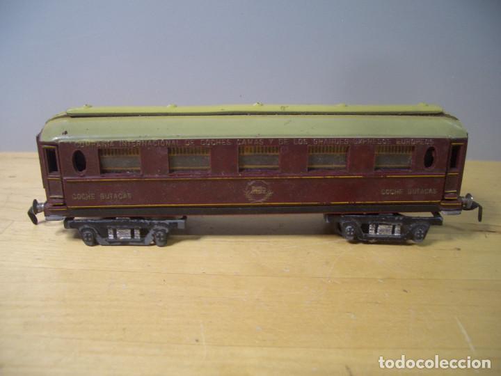 Trenes Escala: ANTIGUO TREN PAYA CON CAJA REF 1402 LOCOMOTORA 1401 VAGON LOTE VAGONES ESCALA - Foto 26 - 277285978