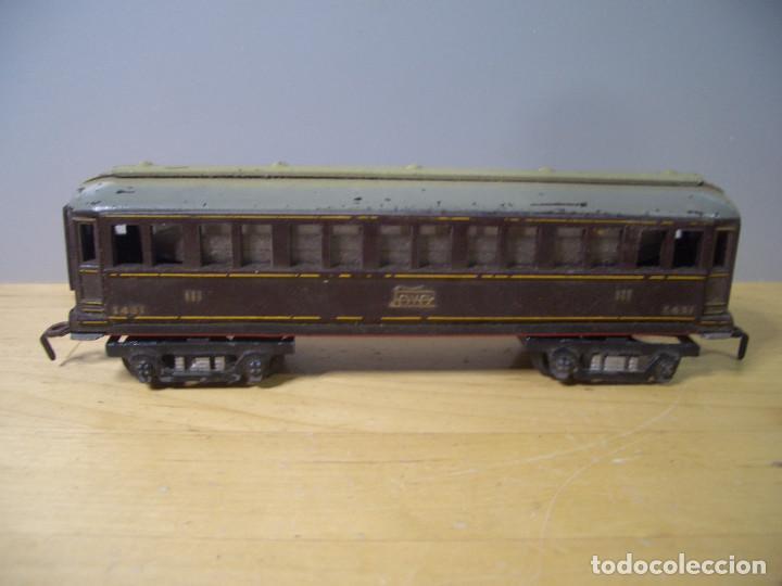 Trenes Escala: ANTIGUO TREN PAYA CON CAJA REF 1402 LOCOMOTORA 1401 VAGON LOTE VAGONES ESCALA - Foto 29 - 277285978