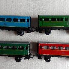 Trenes Escala: U-91.- LOTE DE -- 4 -- VAGONES DE -- TREN PAYA -- HAY 1 DE CORREOS , LOS OTROS 3 SON DE PASAJEROS. Lote 279511183