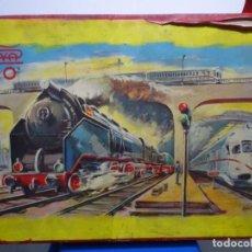 Trenes Escala: TREN PAYA HO. LIBRO,MÁQUINA,VAGONES,VÍAS,CAJA (62X42X8),ETC.. Lote 292939098