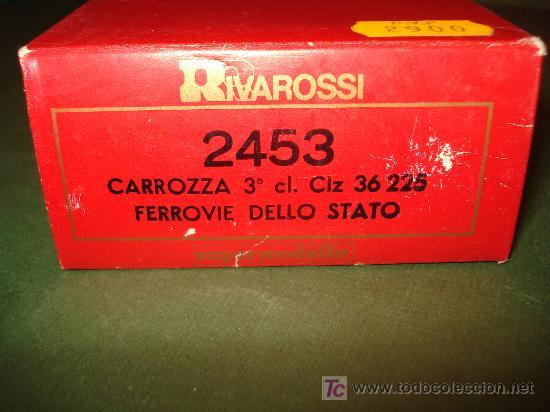 Trenes Escala: Caja,estuche y adhesivas del coche ref. 2453 de RIVAROSSI .H0. - Foto 2 - 21917758