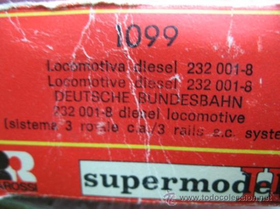Trenes Escala: Rivarossi REF: 1099 - Locomotora diesel de la DB con corriente alterna - Escala H0 - Foto 9 - 34661338