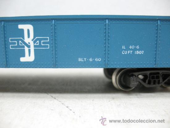 Trenes Escala: RIVAROSSI 2254 - VAGON DE MERCANCIAS BORDE BAJO -BOSTON&MAN-ESC H0- - Foto 4 - 38204569