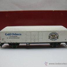 Trenes Escala: RIVAROSSI - VAGÓN DE MERCANCÍAS CERRADO GOLD OCHSEN - ESCALA H0. Lote 50097828