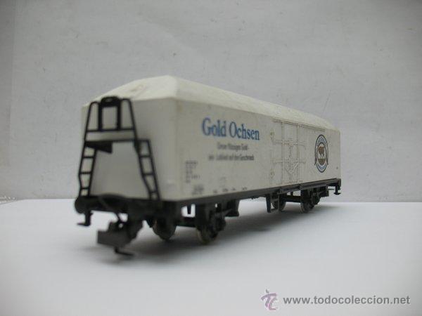 Trenes Escala: Rivarossi - Vagón de mercancías cerrado Gold Ochsen - Escala H0 - Foto 3 - 50097828