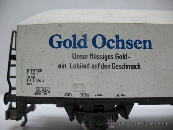 Trenes Escala: Rivarossi - Vagón de mercancías cerrado Gold Ochsen - Escala H0 - Foto 4 - 50097828