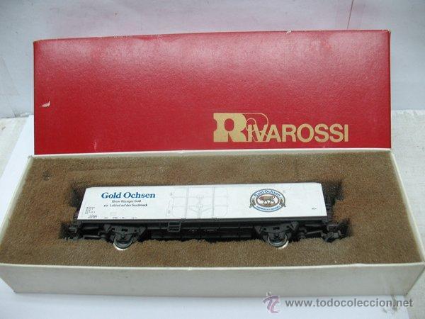 Trenes Escala: Rivarossi - Vagón de mercancías cerrado Gold Ochsen - Escala H0 - Foto 8 - 50097828