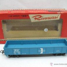 Trenes Escala: RIVAROSSI - VAGÓN DE MERCANCÍAS ABIERTO BM 9704 - ESCALA H0. Lote 50150087