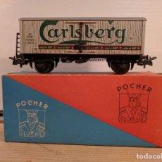 "Trenes Escala: POCHER HO VAGÓN MERCANCÍAS ""CARRO DANESE CARLSBERG"" REF. 320. Lote 66899038"