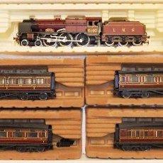 Trenes Escala: TREN PASAJEROS INGLÉS DE VAPOR THE ROYAL SCOT LMS H0 RIVAROSSI. Lote 211778416