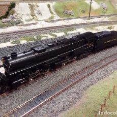 Trenes Escala: LOCOMOTORA DE VAPOR ARTICULADA TIPO CHALLENGER 4_6_6_4 DELAWARE & HUDSON H0 DC RIVAROSSI. Lote 131009592