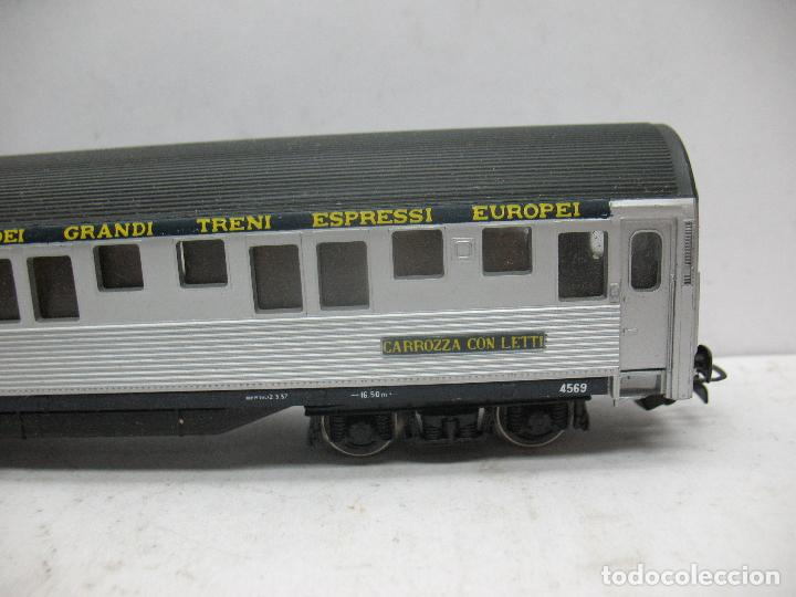 Trenes Escala: Rivarossi - Coche de pasajeros cama 4569 COMPAGNIA INTERNAZIONALE - Escala H0 - Foto 5 - 98763363