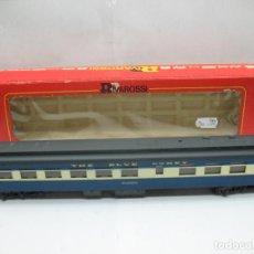 Trenes Escala: RIVAROSSI REF: 2645 - COCHE DE PASAJEROS AMERICANO THE BLUE COMET GIACOBINI - ESCALA H0. Lote 99925655