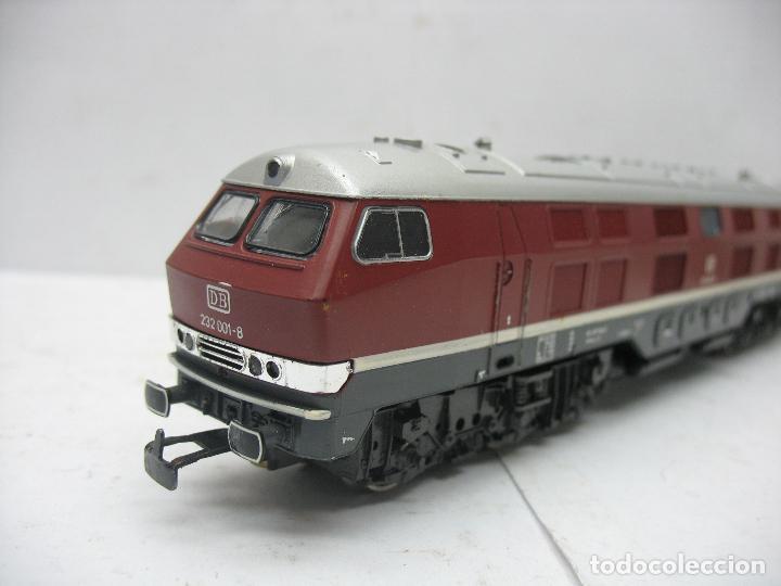 Trenes Escala: Rivarossi - Locomotora Diesel de la DB 232 001-8 corriente alterna - Escala H0 - Foto 6 - 108048387