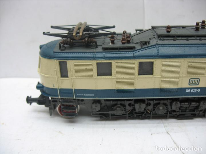 Trenes Escala: Rivarossi - Locomotora eléctrica de la DB 118 028-0 corriente continua - Escala H0 - Foto 2 - 112420175