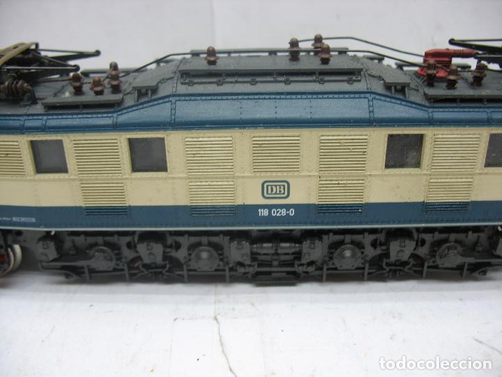 Trenes Escala: Rivarossi - Locomotora eléctrica de la DB 118 028-0 corriente continua - Escala H0 - Foto 3 - 112420175