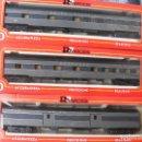 Trenes Escala: COMPOSICÓN 3 COCHES VIAJEROS USA RIVAROSSI. Lote 123320591