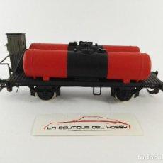 Trenes Escala: VAGON PLATAFORMA CON 2 DEPOSITOS FS RIVAROSSI 2993 ESCALA H0. Lote 125069479