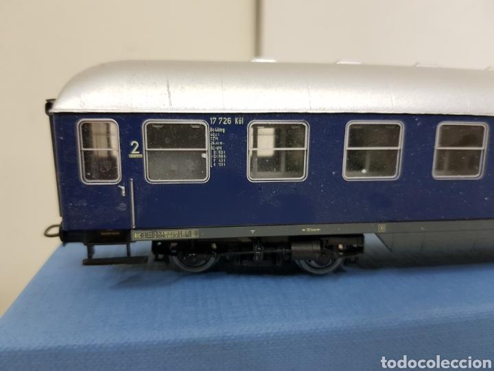 Trenes Escala: Rivarossi wagon de la segunda clase azul de la DB alemana München escala H0 corriente continua 30cm - Foto 4 - 137399890