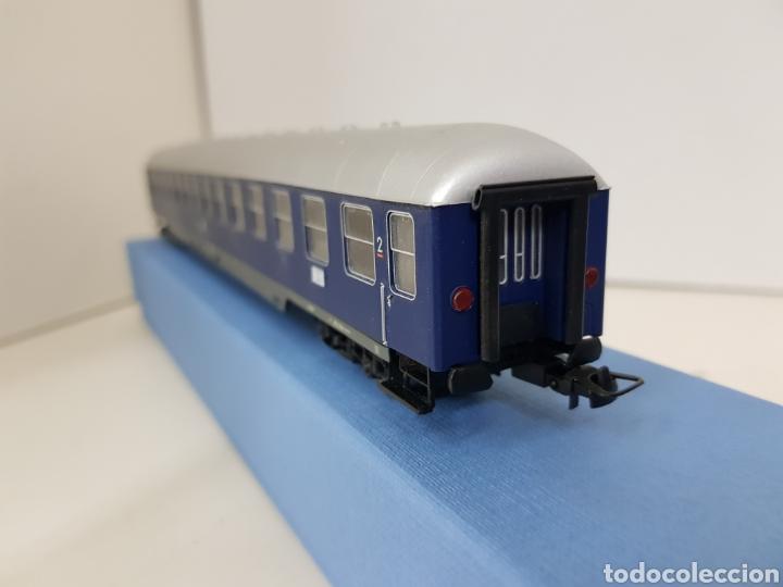 Trenes Escala: Rivarossi wagon de la segunda clase azul de la DB alemana München escala H0 corriente continua 30cm - Foto 6 - 137399890