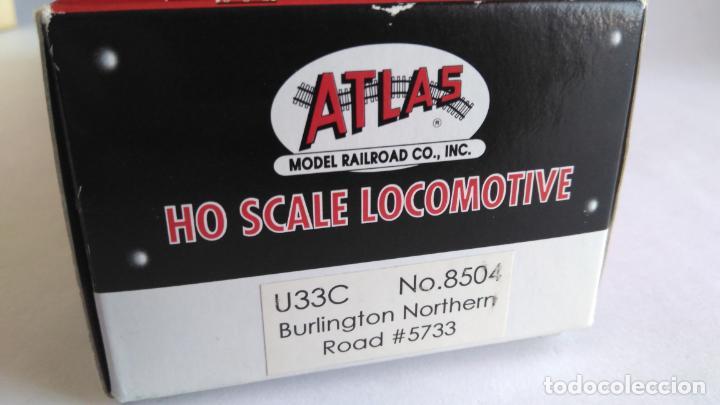 Trenes Escala: ATLAS RIVAROSSI LOCOMOTORA H0 DIESEL AMERICANA BURLINGTON NORTHERN ROAD #5733, REF U33C 8504 - Foto 9 - 145403014