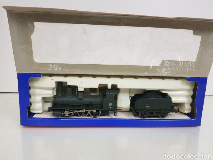 Trenes Escala: Rivarossi rarísima locomotora de la SNCF francesa a vapor corriente continua con tender verde 18cms - Foto 2 - 146235730