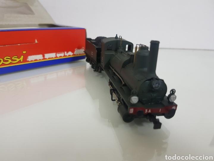 Trenes Escala: Rivarossi rarísima locomotora de la SNCF francesa a vapor corriente continua con tender verde 18cms - Foto 5 - 146235730