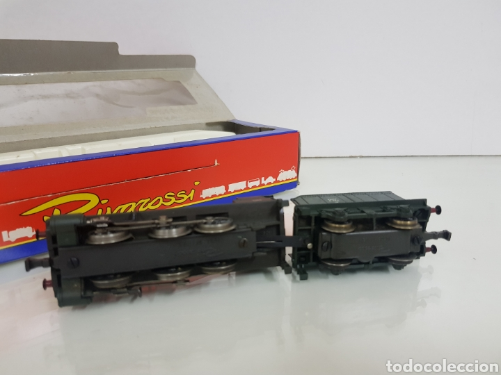 Trenes Escala: Rivarossi rarísima locomotora de la SNCF francesa a vapor corriente continua con tender verde 18cms - Foto 6 - 146235730