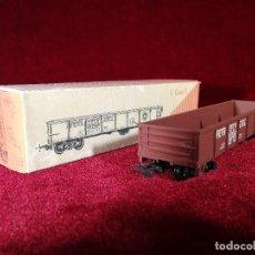 Trenes Escala: VAGON RIVAROSSI ESCALA H0 C GON/1 MERCANCIAS ABIERTO - CON CAJA BUEN ESTADO. Lote 150349310