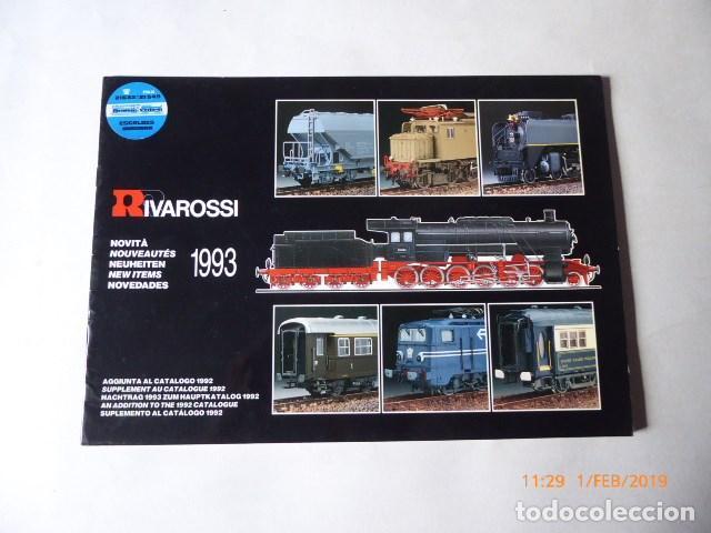 CATALOGO NOVEDADES RIVAROSSI, 1993, 24 PAG. (Juguetes - Trenes a Escala H0 - Rivarossi H0)