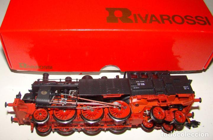 LOCOMOTORA DE VAPOR BR77 115 DR DE RIVAROSSI. REF: 1390. ESCALA H0 (Juguetes - Trenes a Escala H0 - Rivarossi H0)