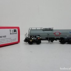 Trenes Escala: RIVAROSSI H0 HR6162 VAGÓN CISTERNA LARGO TRANSFESA DB NUEVO A ESTRENAR NEW OVP. Lote 157932490