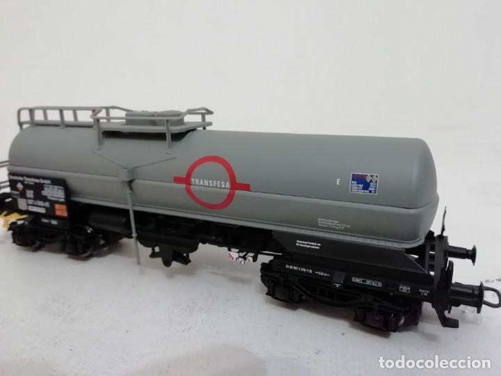 Trenes Escala: RIVAROSSI H0 HR6162 Vagón Cisterna Largo Transfesa DB NUEVO a estrenar NEW OVP - Foto 4 - 157932490