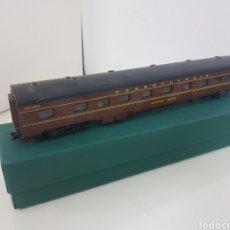 Trenes Escala: RIVAROSSI VAGÓN LARGO AMERICANO PULLMAN PENNSYLVANIA MARRÓN DE 30 CENTÍMETROS ESCALA H0. Lote 170778352