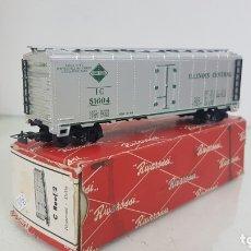 Trenes Escala: RIVAROSSI C REEF 2 VAGON ILLINIS CENTRAL PLATEADO DE 15CMS. Lote 173066373