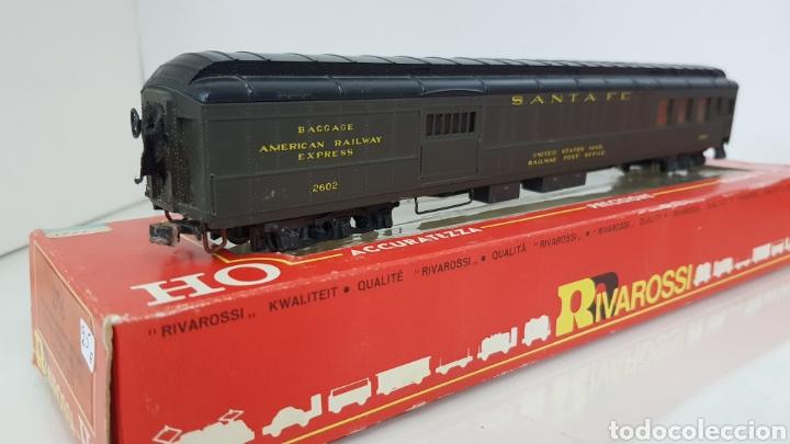Trenes Escala: Rivarossi vagón Santa Fe United States railway de correos verde 30 cm - Foto 3 - 178867817