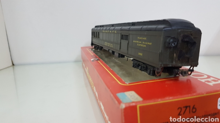 Trenes Escala: Rivarossi vagón Santa Fe United States railway de correos verde 30 cm - Foto 4 - 178867817