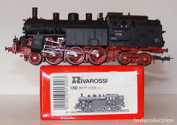 LOCOMOTORA DE VAPOR BR77 DE RIVAROSSI ESCALA HO REF.:1390 (Juguetes - Trenes a Escala H0 - Rivarossi H0)