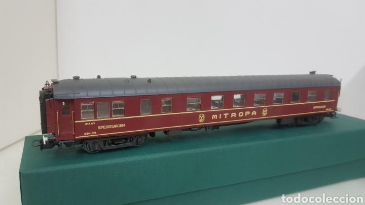 Trenes Escala: Micro para vagón alemán escala H0 rivarossi granate con detalles dorados de 28 cm - Foto 2 - 194064780