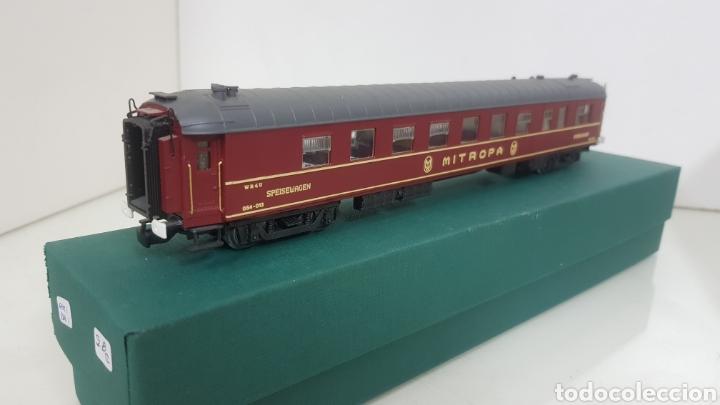 Trenes Escala: Micro para vagón alemán escala H0 rivarossi granate con detalles dorados de 28 cm - Foto 4 - 194064780