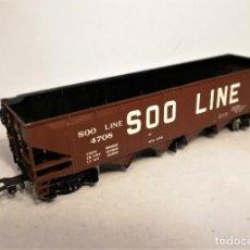 Trenes Escala: RIVAROSSI. ESCALA H0. VAGÓN AMERICANO HOPPER SOO LINE. #4708.. Lote 206959912