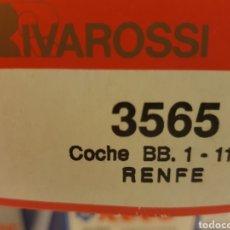 Trenes Escala: RIVAROSSI HO 3565 COCHE BB1 1102 RENFE. Lote 218148476