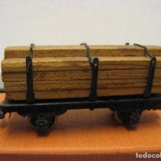 Trenes Escala: VAGON MERCANCIAS DE CARGA CON MADERAS RIVAROSSI. Lote 221969008