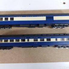 Trenes Escala: 2 COCHES PASAJEROS HO RIVAROSSI 2645 Y RIVAROSSI 2647,BLUE COMET NEW YORK CENTRAL ENVIO INCLUIDO. Lote 224620463