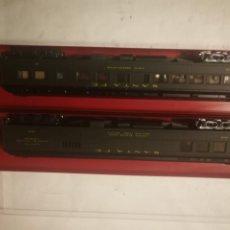 Trenes Escala: 2 VAGONES RIVAROSSI SANTA FE 2716 Y 2718. Lote 226371840
